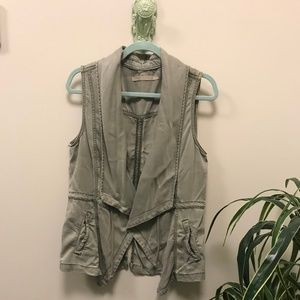 Max Studio Military Drape Vest